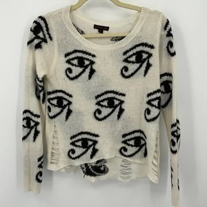 Material Girl The Eye of Ra Knit Sweater M